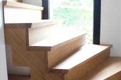 sur parquet pose escalier à double crémaillère